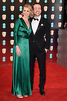 Elize du Toit &amp; Rafe Spall at the 2017 EE British Academy Film Awards (BAFTA) held at The Royal Albert Hall, London, UK. <br /> 12 February  2017<br /> Picture: Steve Vas/Featureflash/SilverHub 0208 004 5359 sales@silverhubmedia.com