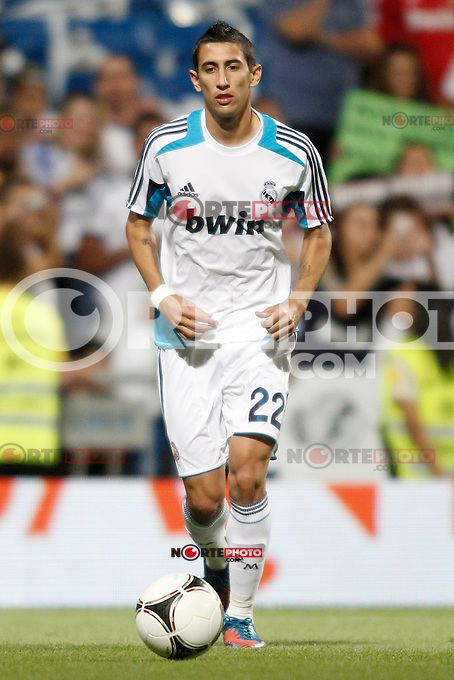 Real Madrid's  Di Maria during Super Copa of Spain on Agost 29th 2012...Photo:  (ALTERPHOTOS/Ricky) Super Cup match. August 29, 2012. <br />