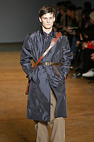 Phil Moller walks runway in an outfit from the Marc by Marc Jacobs Fall/Winter 2011 collection, during New York Fashion Week, Fall 2011.