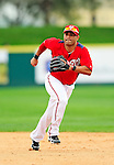 1 March 2011: Washington Nationals' infielder Jerry Hairston Jr. in action during a Spring Training game against the New York Mets at Space Coast Stadium in Viera, Florida. The Nationals defeated the Mets 5-3 in Grapefruit League action. Mandatory Credit: Ed Wolfstein Photo