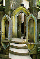 Gothic arches at Las Pozas, the surrealistic sculpture garden created by Edward James near Xilitla, Mexico