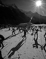Ski de Fond race. XC ski race