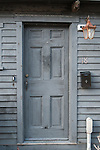 Wooden door and mailbox, Rockport, MA