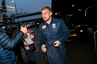 Picture by Alex Whitehead/SWpix.com - 16/03/2017 - Rugby League - Betfred Super League - Leigh Centurions v Warrington Wolves - Leigh Sports Village, Leigh, England - Warrington's Mike Cooper arrives at the ground.
