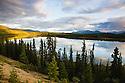 Canada, Yukon, Cowley Lake in fall