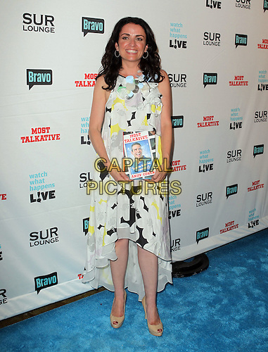 "Jenni Pulos.Bravo's Andy Cohen's Book Release Party For ""Most Talkative: Stories From The Front Lines Of Pop Held at SUR Lounge, West Hollywood, California, USA..May 14th, 2012.full length white black yellow floral print dress  sleeveless.CAP/ADM/KB.©Kevan Brooks/AdMedia/Capital Pictures."