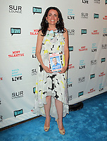 Jenni Pulos.Bravo's Andy Cohen's Book Release Party For &quot;Most Talkative: Stories From The Front Lines Of Pop Held at SUR Lounge, West Hollywood, California, USA..May 14th, 2012.full length white black yellow floral print dress  sleeveless.CAP/ADM/KB.&copy;Kevan Brooks/AdMedia/Capital Pictures.
