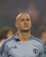 Sporting Kansas City defender Aurelien Collin (78). In a Major League Soccer (MLS) match, the New England Revolution defeated Sporting Kansas City, 3-2, at Gillette Stadium on April 23, 2011.