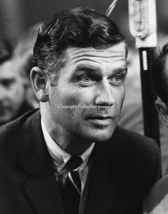 Oregon Governor Mark Hatfield at the Republican convention in Miami 1968 (photo by Ron Riesterer)