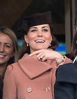 Catherine, The Duchess of Cambridge and Prince William attend  the Cheltenham Festival - UK