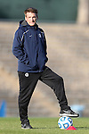 16 November 2012: Georgetown assistant coach Mike Calabretta. The Baylor University Bears played the Georgetown University Hoyas at Fetzer Field in Chapel Hill, North Carolina in a 2012 NCAA Division I Women's Soccer Tournament Second Round game. Baylor won the game 2-1 in overtime.