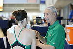 19 February 2016: Notre Dame Diving head coach Caiming Xie (CHN). The 2016 Atlantic Coast Conference Swimming and Diving Championships were held at the Greensboro Aquatic Center in Greensboro, North Carolina from February 17-27, 2016.