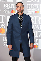 Marvin Humes at the 2017 Brit Awards at the O2 Arena in London, UK. <br /> 22 February  2017<br /> Picture: Steve Vas/Featureflash/SilverHub 0208 004 5359 sales@silverhubmedia.com