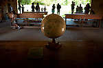 African exhibit at Woodland Park Zoo with World Globe