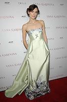 "Keira Knightley attends the "" Anna Karenina "" Movie Premiere - Los Angeles"