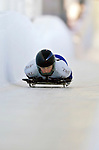 18 November 2005: Emma Lincoln-Smith of Australia slides down the track to take 15th place at the 2005 FIBT World Cup Women's Skeleton competition at the Verizon Sports Complex, in Lake Placid, NY. Mandatory Photo Credit: Ed Wolfstein.