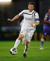 FUSSBALL   DFB POKAL   SAISON 2011/2012  1. Hauptrunde VfL Osnabrueck - TSV 1860 Muenchen                29.07.2011 Benjamin LAUTH (1860 Muenchen) Einzelaktion am Ball