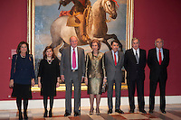Royals of Spain attend a painting exhibition