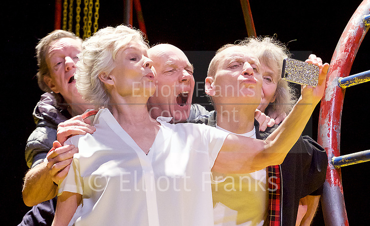 Seventeen <br /> by Matthew Whittet <br /> at The Lyric Hammersmith Theatre, London, Great Britain <br /> Press photocall <br /> 10th March 2017 <br /> <br /> Diana Hardcastle as Jess <br /> <br /> Michael Feast as Mike <br /> <br /> Roger Sloman as Tom <br /> <br /> Sarah Ball as Lizzy <br /> <br /> Mike Grady as Ronny <br /> <br /> Margot Leicester as Emilia <br /> <br /> <br /> Photograph by Elliott Franks <br /> Image licensed to Elliott Franks Photography Services