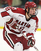Patrick McNally (Harvard - 8) - The Harvard University Crimson defeated the visiting Clarkson University Golden Knights 3-2 on Harvard's senior night on Saturday, February 25, 2012, at Bright Hockey Center in Cambridge, Massachusetts.