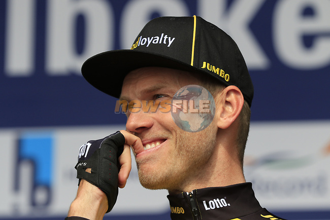Lars Boom (NED) Team Lotto NL-Jumbo presented to the crowd before the start of the 60th edition of the Record Bank E3 Harelbeke 2017, Flanders, Belgium. 24th March 2017.<br /> Picture: Eoin Clarke | Cyclefile<br /> <br /> <br /> All photos usage must carry mandatory copyright credit (&copy; Cyclefile | Eoin Clarke)