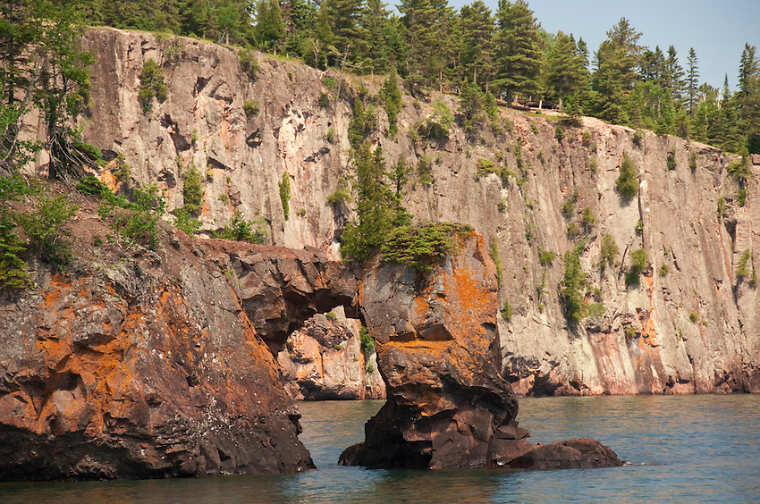 Sea Arch and Shovel Point at Tettegouche State Park on Lake Superior in northern Minnesota.