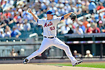 25 July 2012: New York Mets starting pitcher Jeremy Hefner on the mound against the Washington Nationals at Citi Field in Flushing, NY. The Nationals defeated the Mets 5-2 to sweep their 3-game series. Mandatory Credit: Ed Wolfstein Photo
