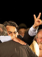 Independent presidential candidate Marco Enriquez-Ominami speaks at his campaig headquarters after the country's general elections in Santiago, Sunday, Dec. 13, 2009. Enriquez-Ominami was third-placed