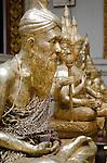 Nakorn Chai Sri, Thailand, March 3, 2012, Wat Bang Phra - Ruusii (Hindu Hermit) statues made of silver.