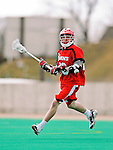 19 March 2011: St. John's University Red Storm Midfielder Dan Kalata, a Senior from Nesconset, NY, in action against the University of Vermont Catamounts at Moulton Winder Field in Burlington, Vermont. The Catamounts defeated the visiting Red Storm 14-9. Mandatory Credit: Ed Wolfstein Photo
