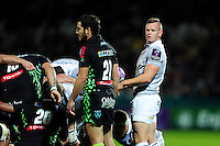 Chris Cook of Bath Rugby looks on at a scrum. European Rugby Challenge Cup match, between Pau (Section Paloise) and Bath Rugby on October 15, 2016 at the Stade du Hameau in Pau, France. Photo by: Patrick Khachfe / Onside Images