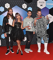 DNCE<br /> 2016 MTV EMAs in Ahoy Arena, Rotterdam, The Netherlands on November 06, 2016.<br /> CAP/PL<br /> &copy;Phil Loftus/Capital Pictures /MediaPunch ***NORTH AND SOUTH AMERICAS ONLY***