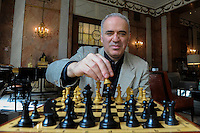 ROME, ITALY - MARCH 20: Garry Kasparov poses for an exclusive portrait at Hotel Excelsior on March 20 2016 in Rome, Italy. <br />