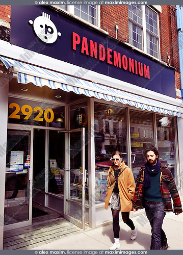 Pandemonium vintage record shop at the Junction in Toronto, Canada
