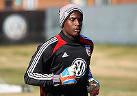 WASHINGTON, DC - NOVEMBER 14, 2012: Bill Hamid (28)of DC United during a practice session before the second leg of the Eastern Conference Championship at DC United practice field, in Washington, DC on November 14.
