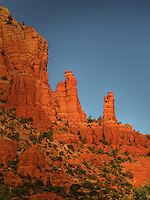 A view from the Chapel of the Holy Cross of the Madonna and Child rock formation, Sedona, AZ