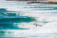 Snapper Rocks, Coolangatta, Queensland Australia. (Friday March 14, 2014) –  The swell  was in the 3'-5' range today from the SE. D-Bah was good early and then the Rainbow Bay and Greenmount sections of the Superbank were providing  clean fun waves. The morning session of the dropping tide were the best waves of the day. Photo: joliphotos.com