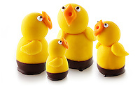 Marzipan Chicks for Easter or spring