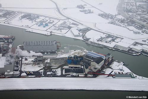 De Harlinger zoutfabriek, Frisia Zout BV, onderdeel van Esco, European Salt Company.