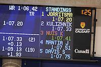 SPEEDSKATING: CALGARY: 14-11-2015, Olympic Oval, ISU World Cup, 1000m, Results, winner Gerben Jorritsma (NED), ©foto Martin de Jong