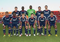 12 September 2012: The Chicago Fire starting eleven in an MLS game between the Chicago Fire and Toronto FC at BMO Field in Toronto, Ontario Canada.