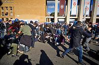 Roma 16 Ottobre 2015<br /> Un centinaio di studenti ha protestato in piazzale Aldo Moro, di fronte all&rsquo;Universit&agrave; La Sapienza, la sede del  Maker Faire 2015, la fiera dell&rsquo;innovazione europea organizzata all&rsquo;interno dell'universita. I manifestanti denunciano l&rsquo;uso privatistico di una struttura pubblica, l&rsquo;interruzione delle attivit&agrave; di ricerca e la non trasparenza sull&rsquo;uso dei ricavi.<br /> Rome 16 October 2015<br /> A hundred students protested in Piazzale Aldo Moro, opposite the University La Sapienza, the headquarters of the Maker Faire 2015, the European innovation fair organized within the university. Protesters denounce the  private use of a public facility, the interruption of research and lack of transparency on the use of revenues.