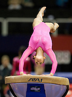 Kyla Ross of Gym-Max competes on the vault during the 2012 US Olympic Trials competition at HP Pavilion in San Jose, California on June 29th, 2012.