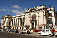 The neoclassical style Post Office or Correos in the port of Veracruz, Mexico. This British designed building dates back to the late 19th century.