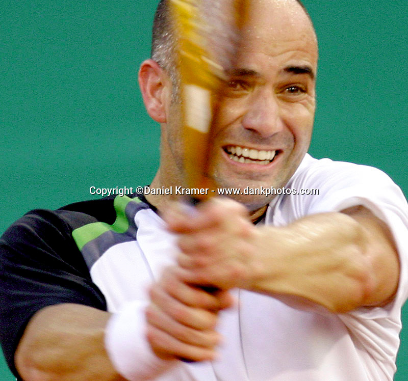 Andre Agassi at the Westside Tennis Club in Houston, Texas in 2005