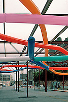Frank Gehry: Temporary Contemporary ( now Geffen Contemporary at MOCA) 1985. Little Italy in Los Angeles.  Photo '85.