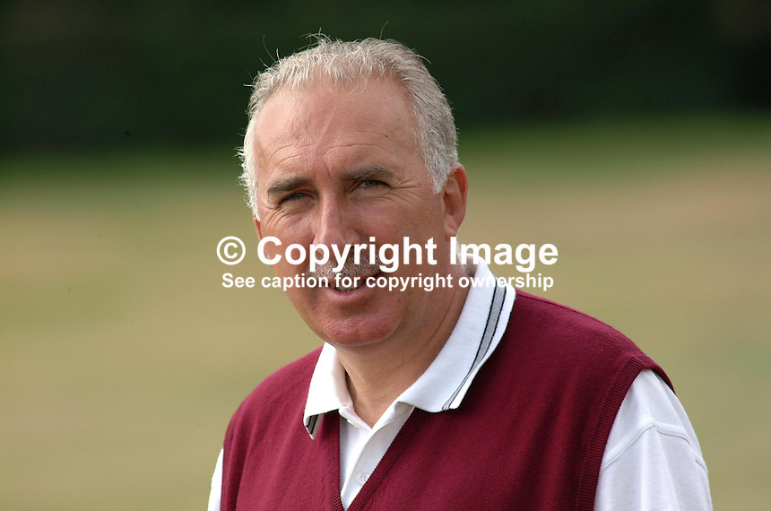 Paddy McGuirk, professional golfer, Rep of Ireland, lifetime assocation with County Louth Golf Club, Baltrtay. Taken at British Seniors Open Championship, Royal County Down, Newcastle, N Ireland. 200107272875..Copyright Image from Victor Patterson, 54 Dorchester Park, Belfast, UK, BT9 6RJ..Tel: +44 28 9066 1296.Mob: +44 7802 353836.Voicemail +44 20 8816 7153.Skype: victorpattersonbelfast.Email: victorpatterson@mac.com.Email: victorpatterson@ireland.com (back-up)..IMPORTANT: If you wish to use this image or any other of my images please go to www.victorpatterson.com and click on the Terms & Conditions. Then contact me by email or phone with the reference number(s) of the image(s) concerned.