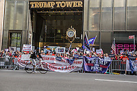 NEW YORK,NY October 29,2016. Hundreds of Trump supporters rallied outside of Trump Tower in New York City, October 29,2016. Photo by VIEWpress/Maite H. Mateo