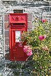 Victorian postbox, Portholland, Cornwall, UK