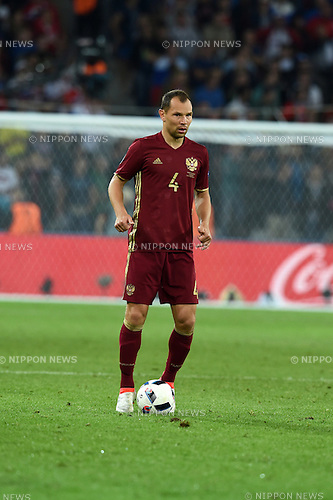 Sergei Ignashevich (Russia) ; <br /> June 15, 2016 - Football : Uefa Euro France 2016, Group B, Russia 1-2 Slovakia at Stade Pierre Mauroy, Lille Metropole, France.; ;(Photo by aicfoto/AFLO)
